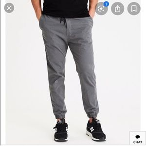 American Eagle Grey Next Level Flex Joggers Small